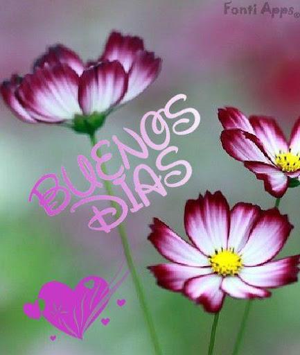 Frases buenos dias con flores