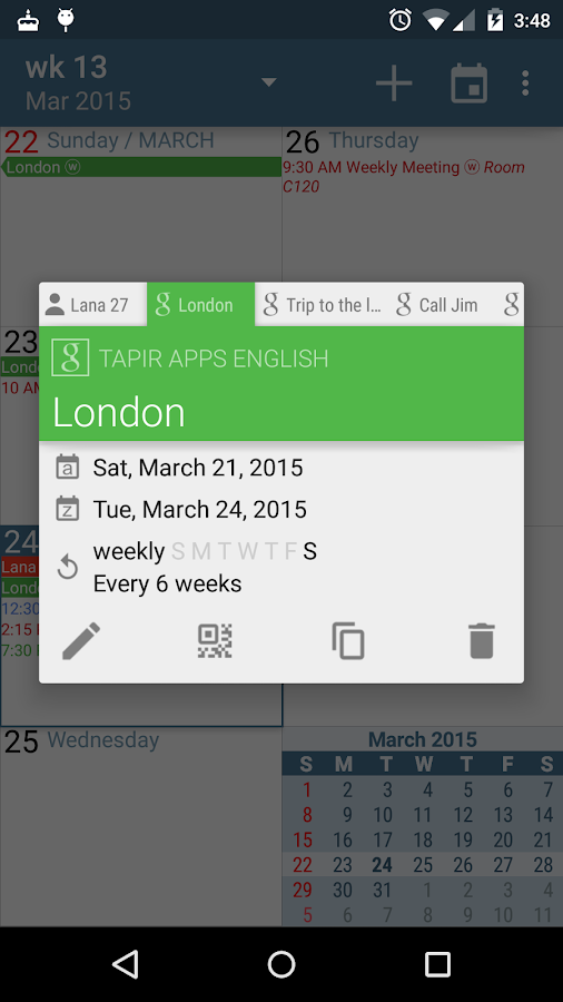aCalendar - Android Calendar- screenshot
