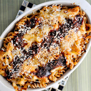 BBQ Chicken Pasta Bake