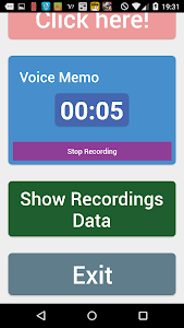 Simple voice memo screenshot 1