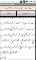 Screenshot of Expressions and Equations