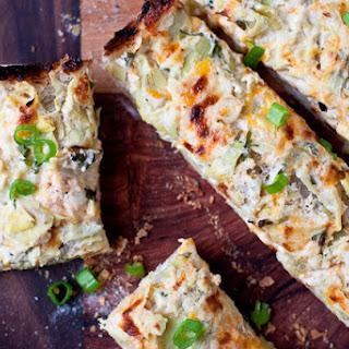 Cheesy Crab & Artichoke Bread