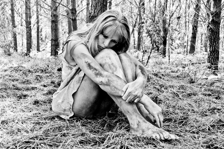 Sad Girl by Gerhard Conradie - Black & White Portraits & People ( nature, black and white, sad, lonely, riana le roux )