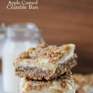 Apple Custard Crumble Bars