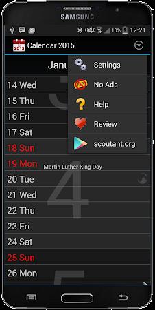 Calendar 2016 3.1 screenshot 410734