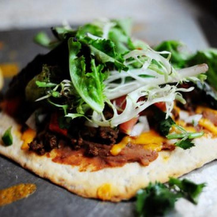 """Mexican """"Flatbread"""" Pizza"""