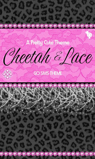 Cheetah Pink Lace Theme SMS