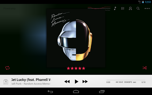 Poweramp skin OS 7 2in1 - screenshot thumbnail