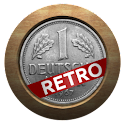 Retro currency converter logo