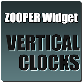 Vertical Clocks Zooper Theme