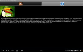 Screenshot of Food Safety Standards - India
