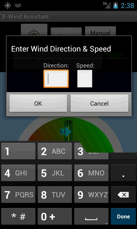 Cross Wind Assistant - screenshot
