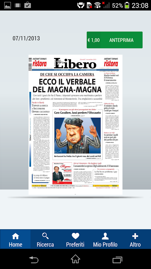 Libero Edicola Digitale- screenshot