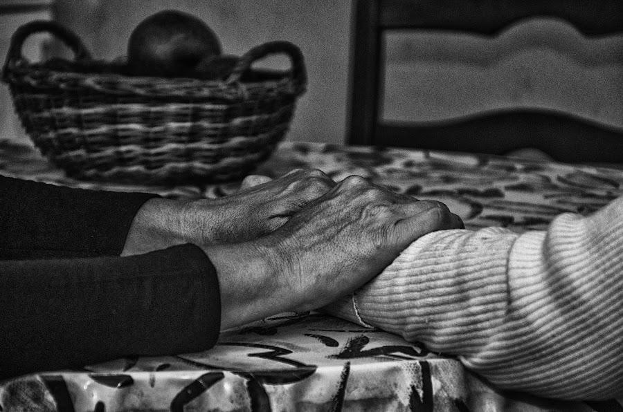 Not alone by Vanja Vidaković - Black & White Abstract