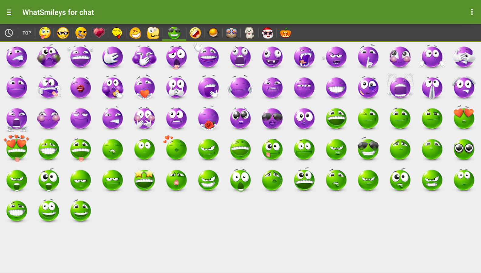 WhatSmileys: smileys for chat