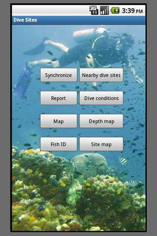 Dive Sites - screenshot