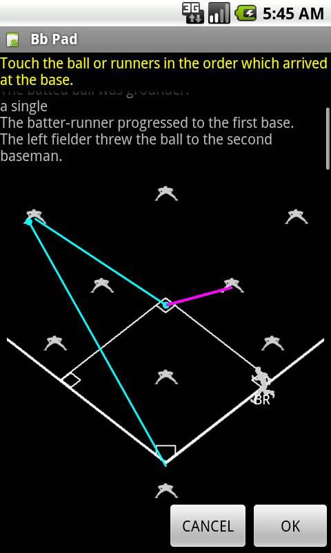 BbPad: Baseball Scorekeeper- screenshot