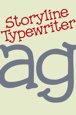 Storyline Typewriter FlipFont- screenshot