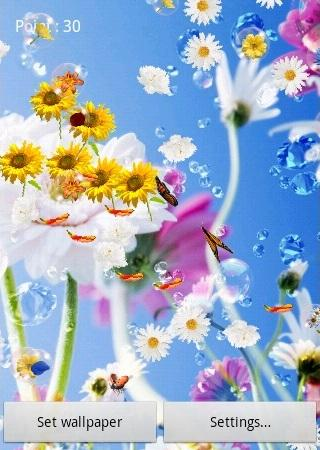 Flowers Live Wallpaper screenshot