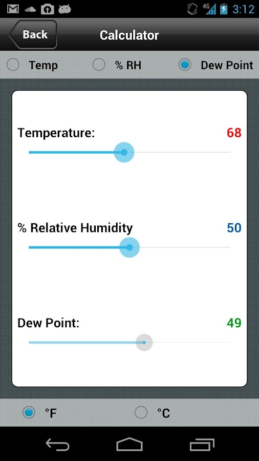 Perma Pure Dryer Sizing App- screenshot
