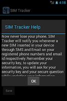 Screenshot of SIM Tracker