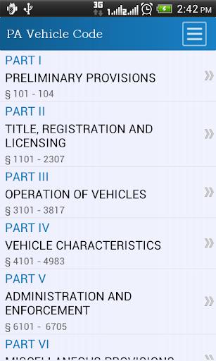Pennsylvania Vehicle Code
