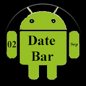 DateBar - date in status bar