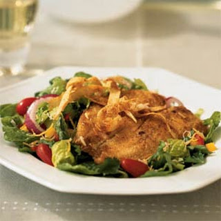 Cornmeal-Crusted Tilapia Salad