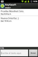 Screenshot of Movilnet Sms