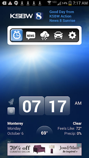 Alarm Clock KSBW 8 Monterey