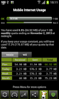 Screenshot of 3G Watchdog - Data Usage