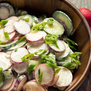 Radish and Cucumber Salad.