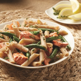Salmon Pasta with Green Beans and Lemon-Thyme Vinaigrette