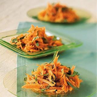 Carrot, Mint, and Golden Raisin Salad.