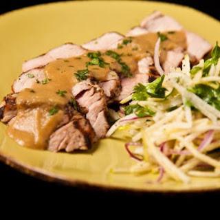 Pork Tenderloin with Apple Jicama Slaw Recipe
