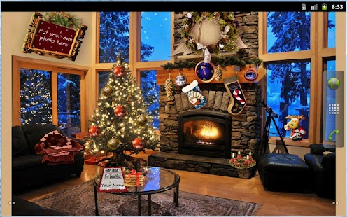 Christmas Fireplace LWP Free - screenshot thumbnail