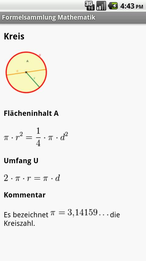 Formelsammlung Mathematik - screenshot