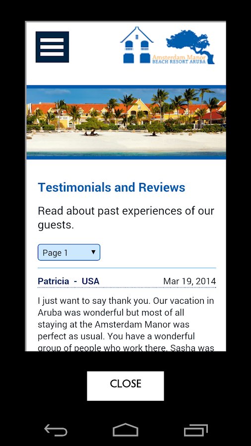 Amsterdam Manor Resort | Aruba- screenshot