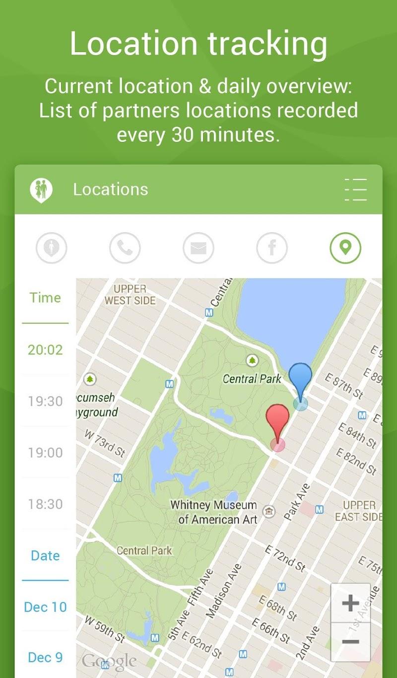 Couple Tracker Pro - Cell phone monitoring Screenshot 10