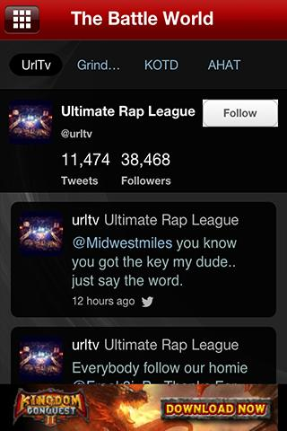 The Battle Rap App - screenshot