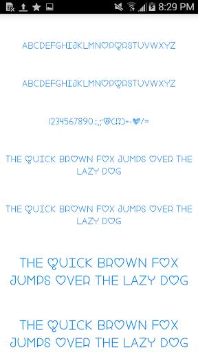 Color Fonts for FlipFont 3