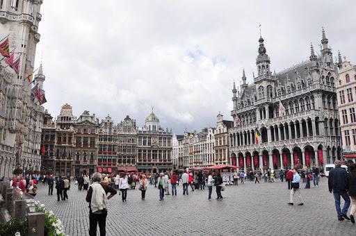 grote-brussels-belgium - Grand'place - Grote Market in Brussels, Belgium.