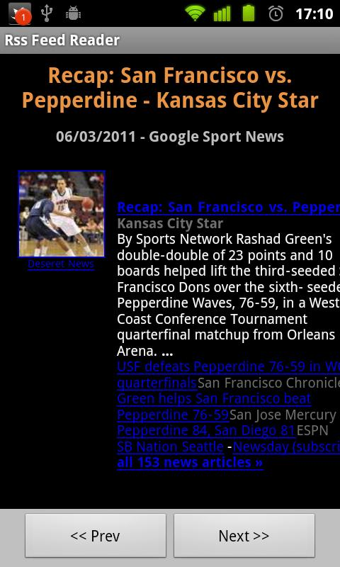 Rss Feed Reader - screenshot