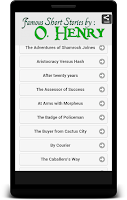 Screenshot of Famous Stories by O. Henry