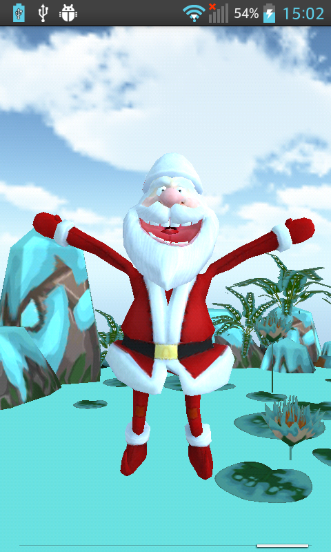 Talking Dancing Santa Claus 3D - screenshot