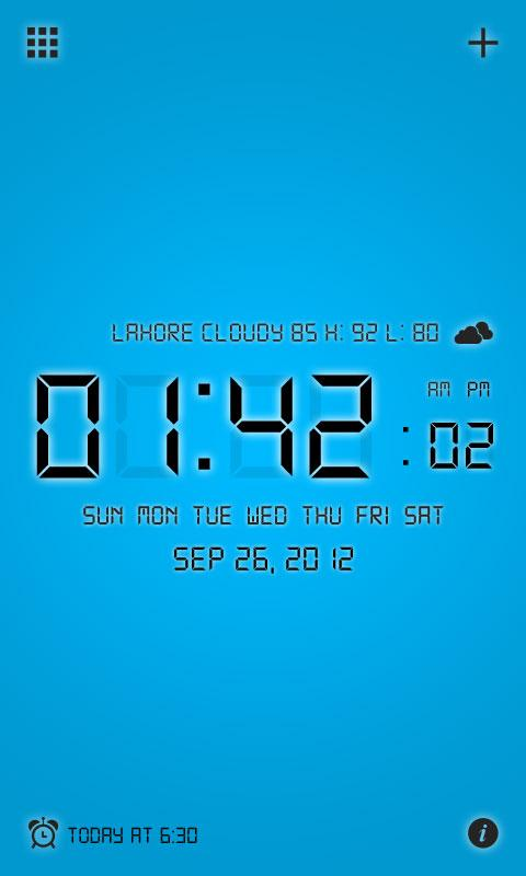 Digital Alarm Clock Pro - screenshot