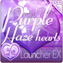 Purple Haze Heart GO Launcher icon