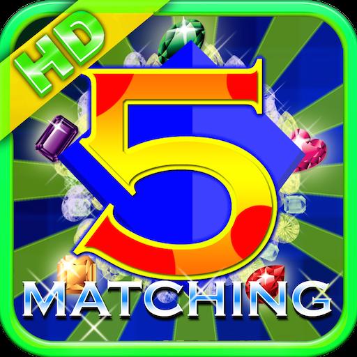 5 Matching Diamond Puzzle HD LOGO-APP點子