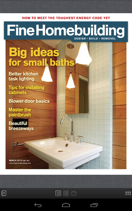 Fine Homebuilding Magazine Screenshot