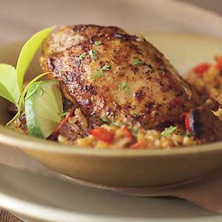 Cuban-Spiced Chicken Thighs with Chorizo and Rice